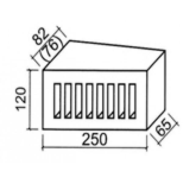 11.101172L Фигурный кирпич дырчатый Lode Janka F72 (торцевой клин) (распродажа, остаток 350 шт.)