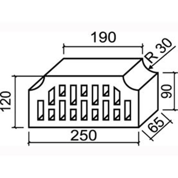11.101112L Фигурный кирпич дырчатый Lode Janka F12 (распродажа, остаток 2100 шт.)