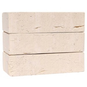 КС-керамик Санторини белый  полнотелый печной кирпич