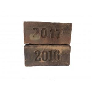 Кирпич с клеймом 2017 Донские Зори 250*120*65 1NF