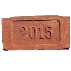 Кирпич ручной формовки Танаис с клеймом 2015 год 250*120*65 1NF