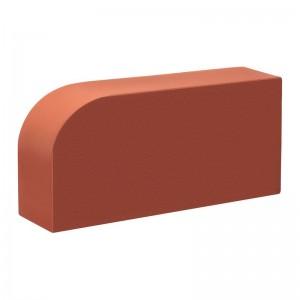 КС-керамик красный гладкий  закругленный (радиусный) полнотелый R-60