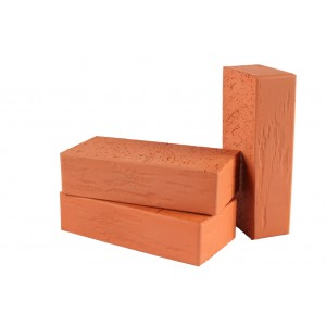 12.102100L Кирпич полнотелый Lode Vecais Janka, 250x120x65 красный ретро