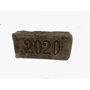 Кирпич ручной формовки Донские зори с клеймом 2020 год 250*120*65 WDF