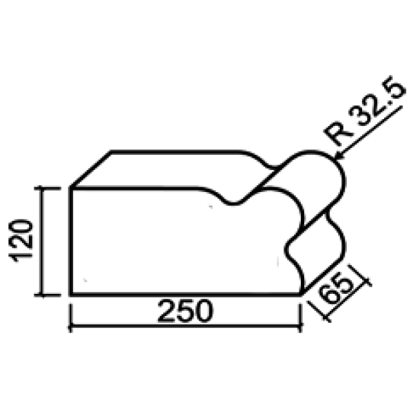 Фигурный кирпич Lode Janka F20 250х120х65 красный гладкий