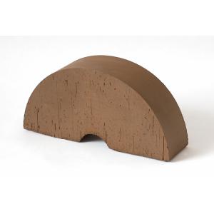 Фигурный кирпич Lode Brunis F30 радиальный коричневый гладкий