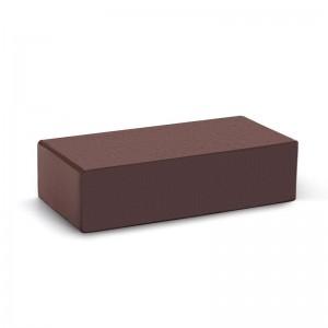Лицевой кирпич полнотелый КС-керамик темный шоколад гладкий