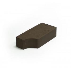 Фигурный кирпич Lode Brunis F13 250х120х65 коричневый гладкий