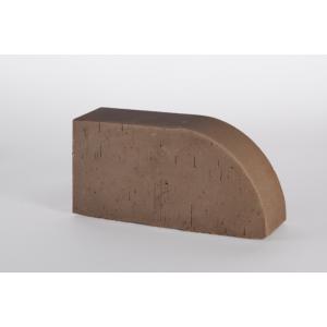 Фигурный кирпич Lode Brunis F17 коричневый гладкий
