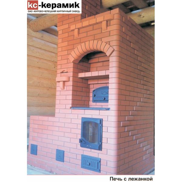 Лицевой кирпич полнотелый КС-керамик красный гладкий  (на складе)