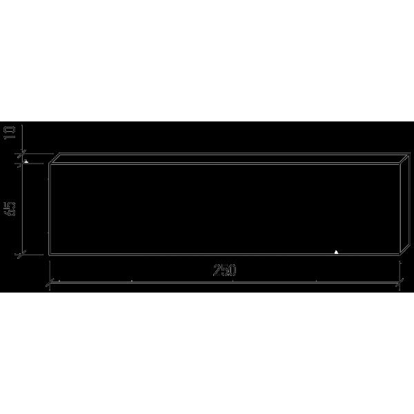 Плитка под кирпич Lode Asais Brunis, 250x10x65 коричневая штриховая