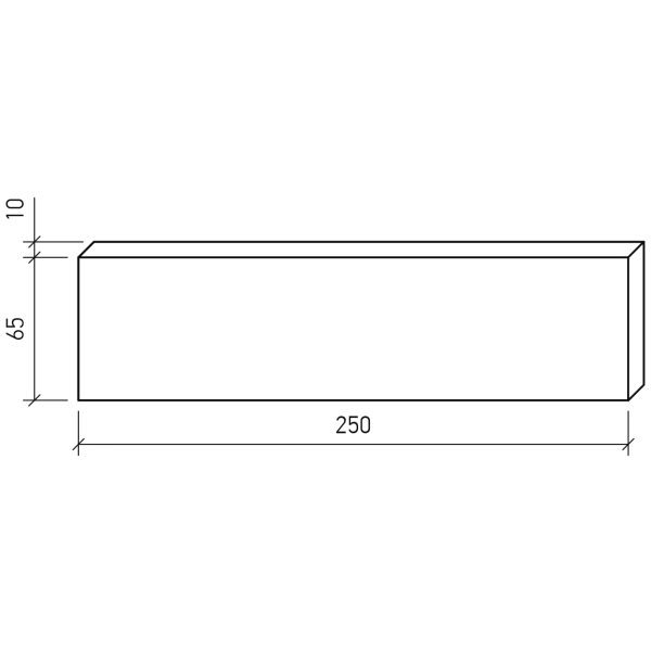 Плитка под кирпич Lode Janka, 250x10x65 красная, гладкая