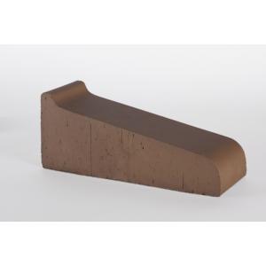 Подоконник полнотелый большой Lode Brunis коричневый 295х115х88