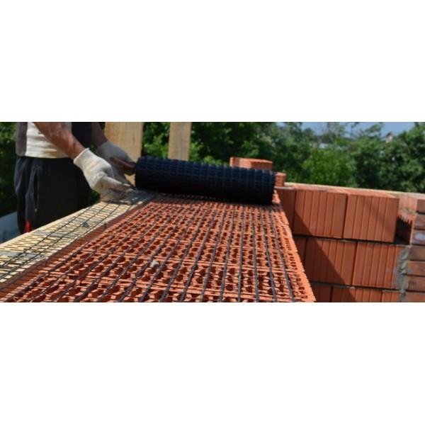 Базальтовая сетка строительная ССБ 25*25-1,0*50,0м