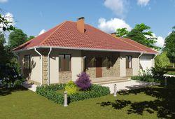 Готовый проект дома Keradom №1 из керамических блоков