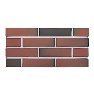 Лицевой кирпич пустотелый КС-керамик красно-коричневый флэшинг гладкий