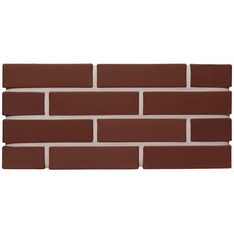 Лицевой кирпич полнотелый КС-керамик шоколад гладкий