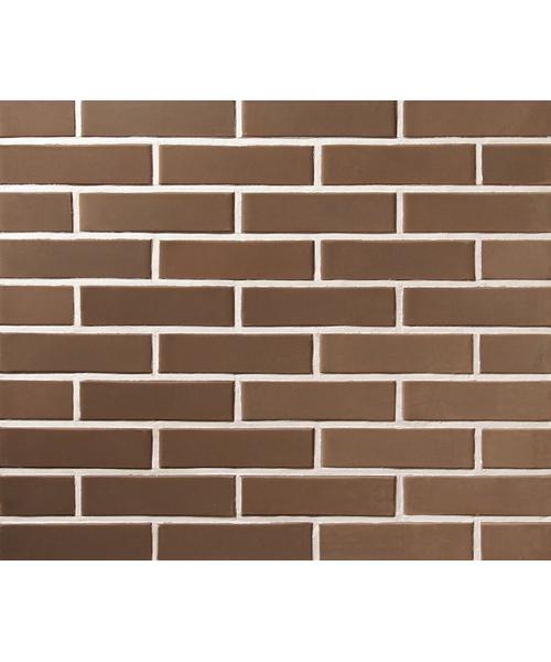 Плитка под кирпич Lode Brunis, 250x10x65 коричневая, гладкая