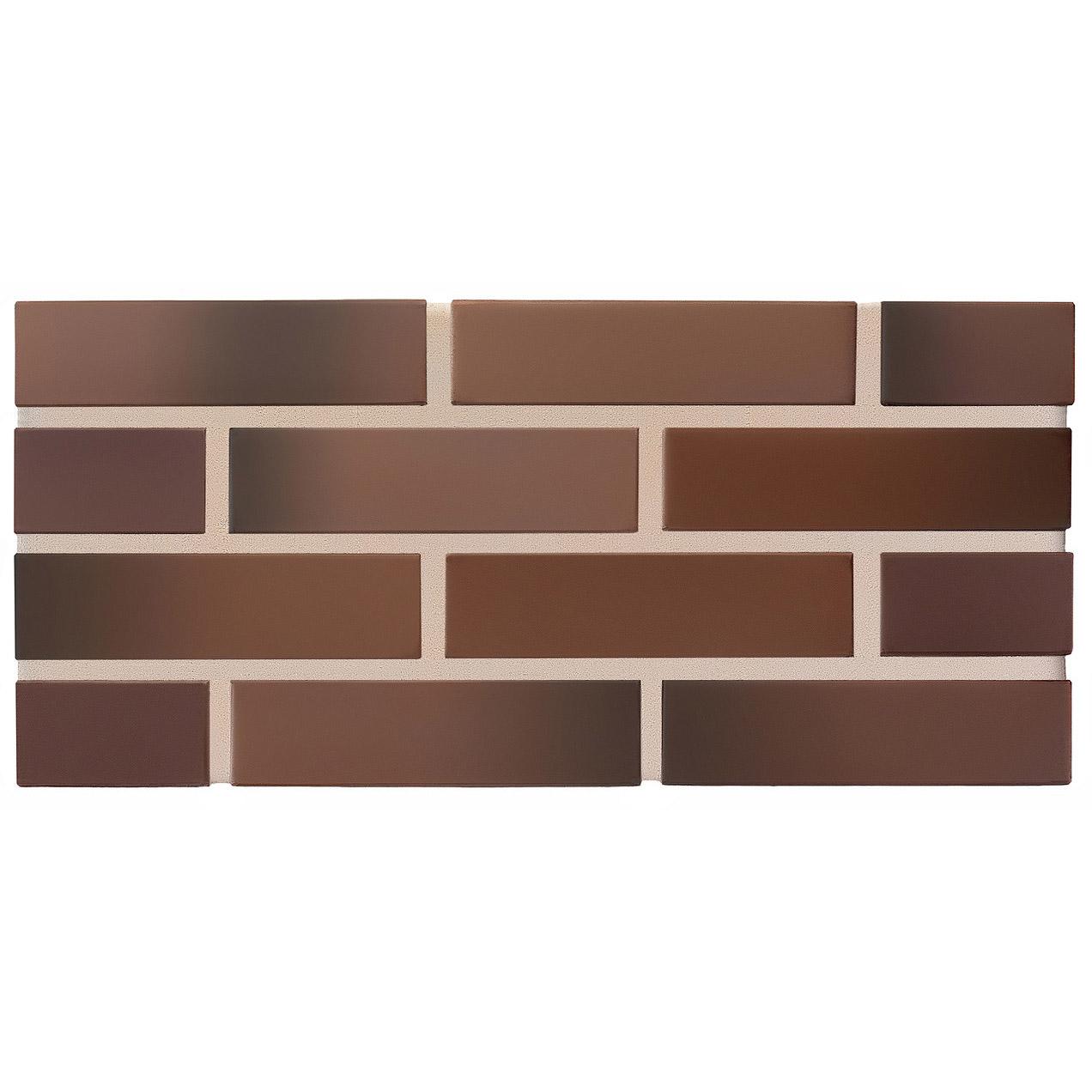 Лицевой кирпич пустотелый КС-керамик Рочестер флеш темный шоколад
