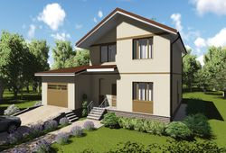 Готовый проект дома Keradom №10 из керамических блоков