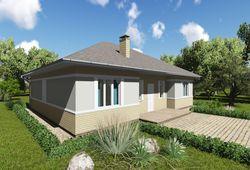 Готовый проект дома Keradom №7 из керамических блоков