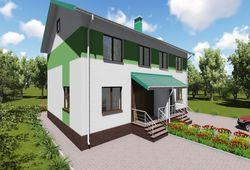 Готовый проект дома Keradom №8 из керамических блоков