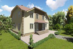 Готовый проект дома Keradom №9 из керамических блоков